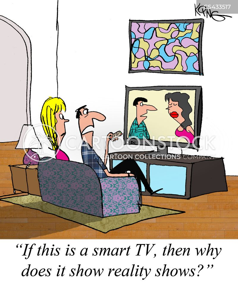 smart television cartoon