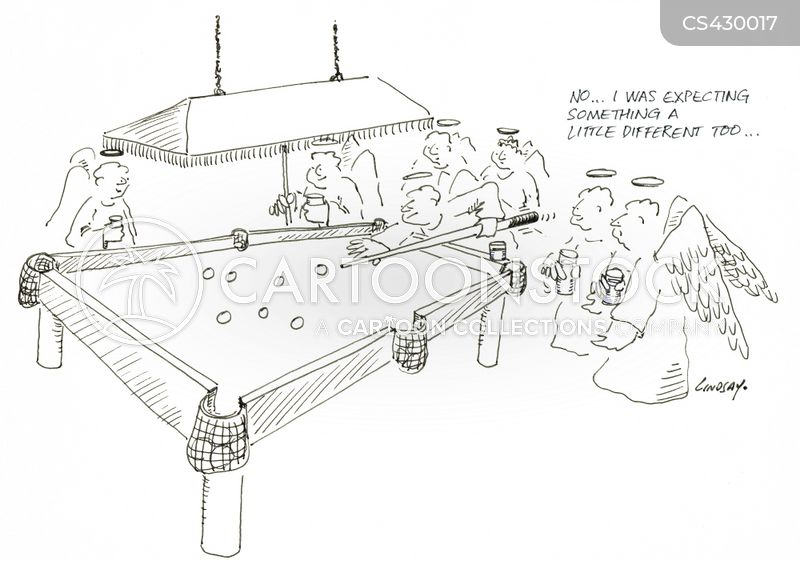 snooker cartoon