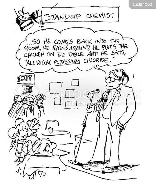 standup comedian cartoon