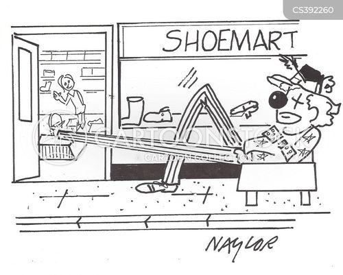 stilt walker cartoon