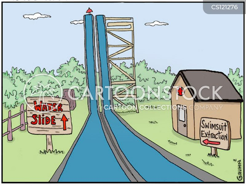 Water Slides Cartoons and Comics - funny pictures from ...
