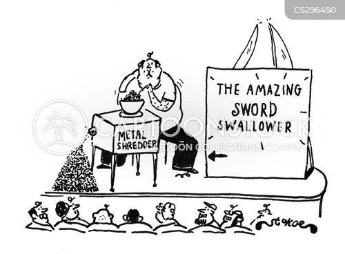 sword swallowers cartoon