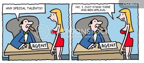 talent spotters cartoon