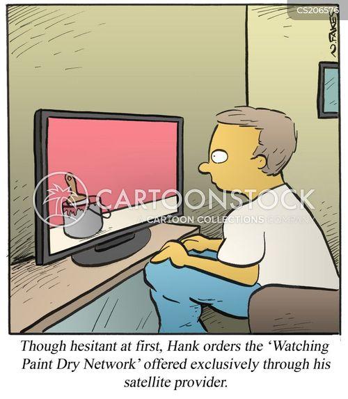 satellite television cartoon
