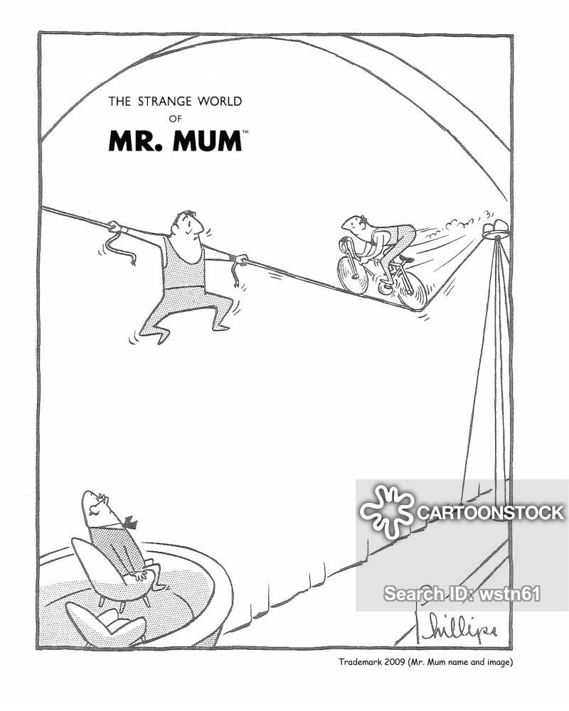 high wires cartoon