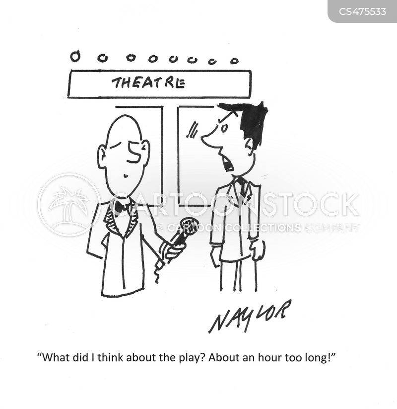 theater review cartoon