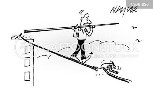 high-wire cartoon
