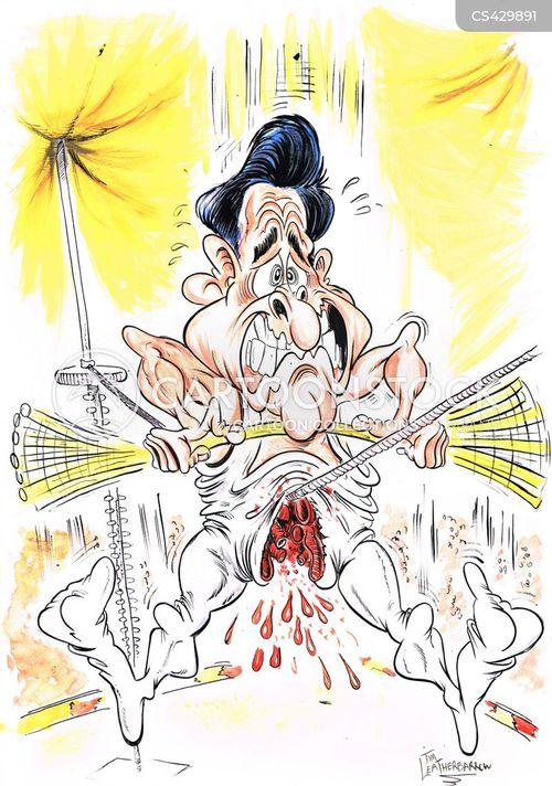 high wire cartoon