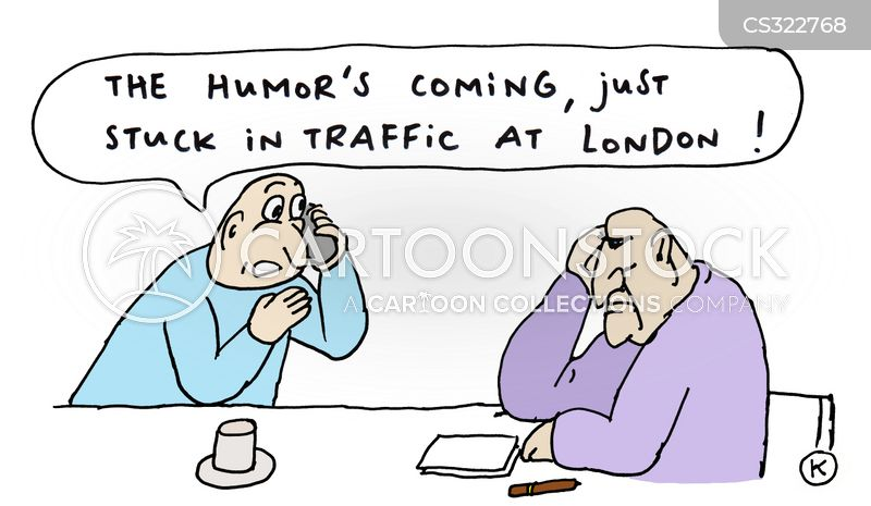 stuck in traffic cartoon