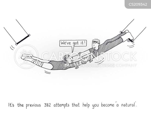 trapeze artists cartoon