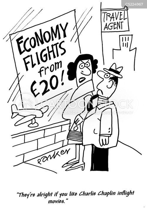 economy airline cartoon