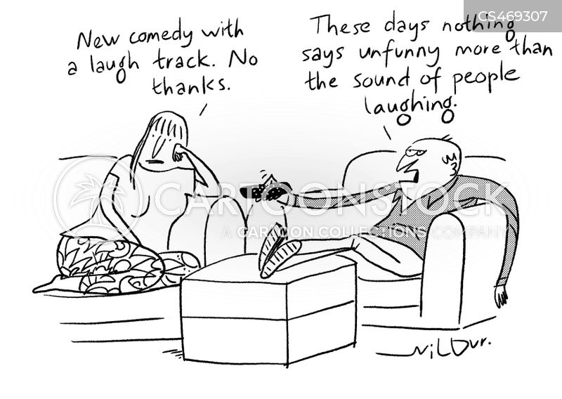 recorded laughter cartoon