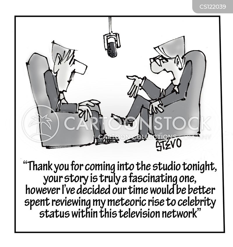 tv presenter cartoon