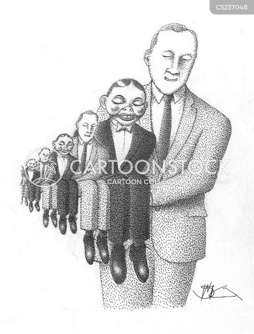 ventriloquists dummies cartoon
