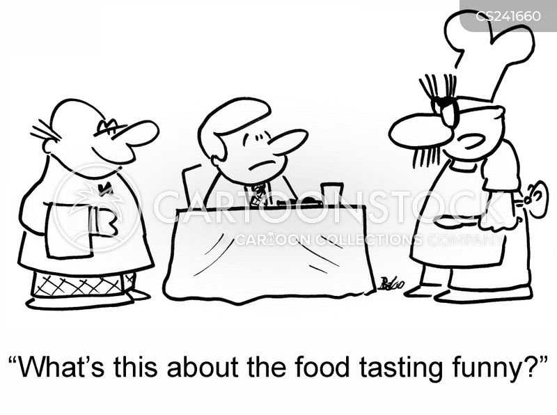 eating out meal cartoon