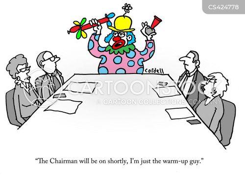 warm up act cartoon