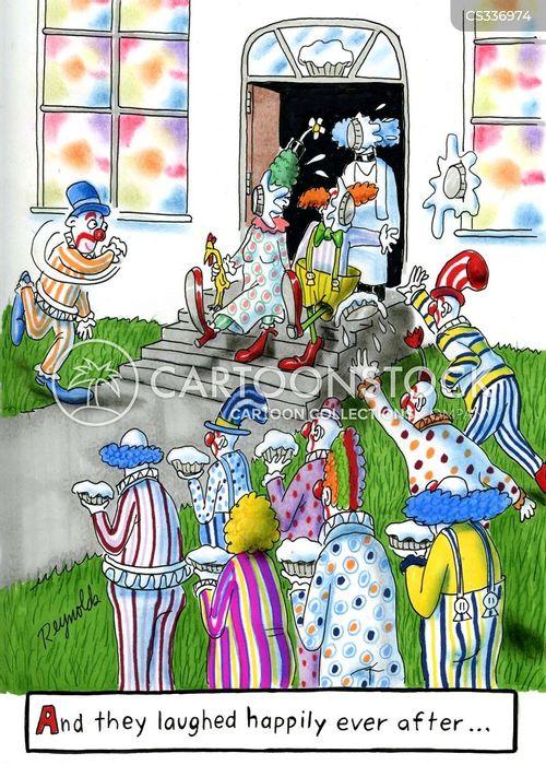 clowned cartoon