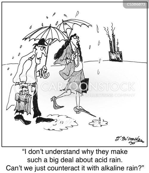 acid rain cartoon