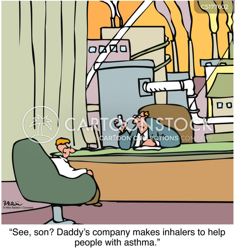 inhaler cartoon