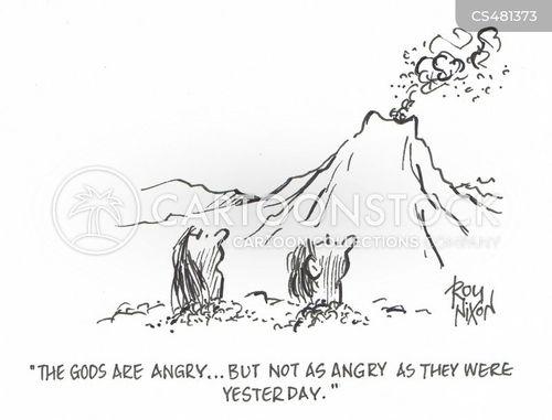 angry deities cartoon