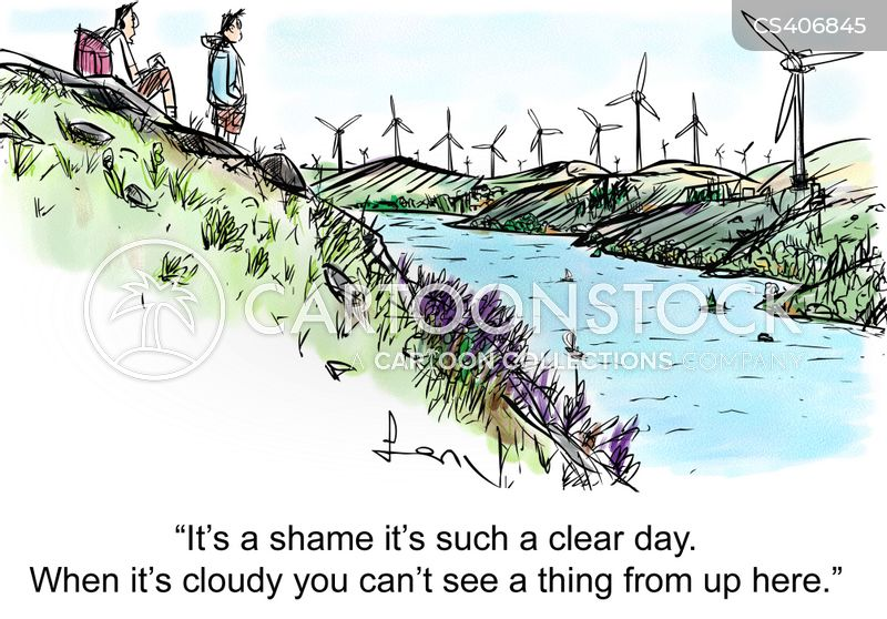 cloudy day cartoon