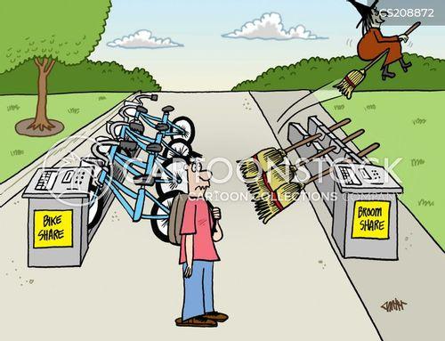 bike share cartoon