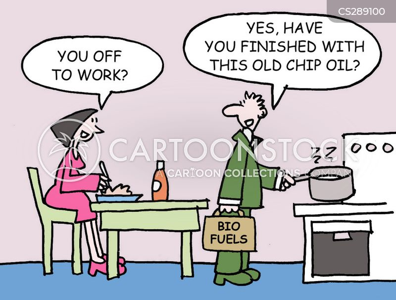 chip oil cartoon