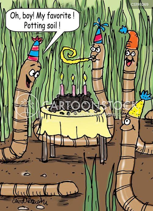 earthworm cartoon