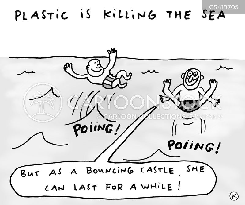 sea swimming cartoon