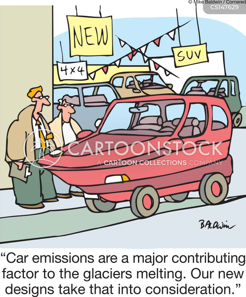 exhaust cartoon