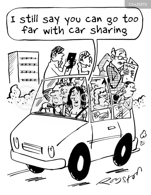car shares cartoon