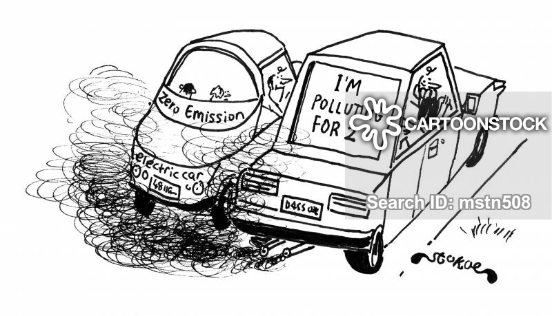 pollute cartoon