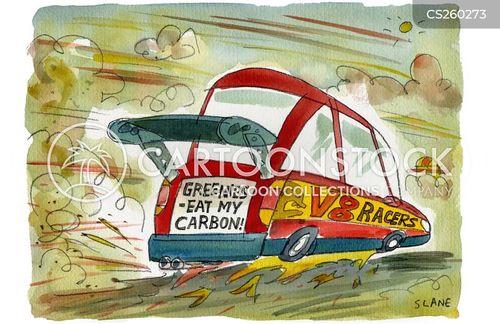 motor sports cartoon