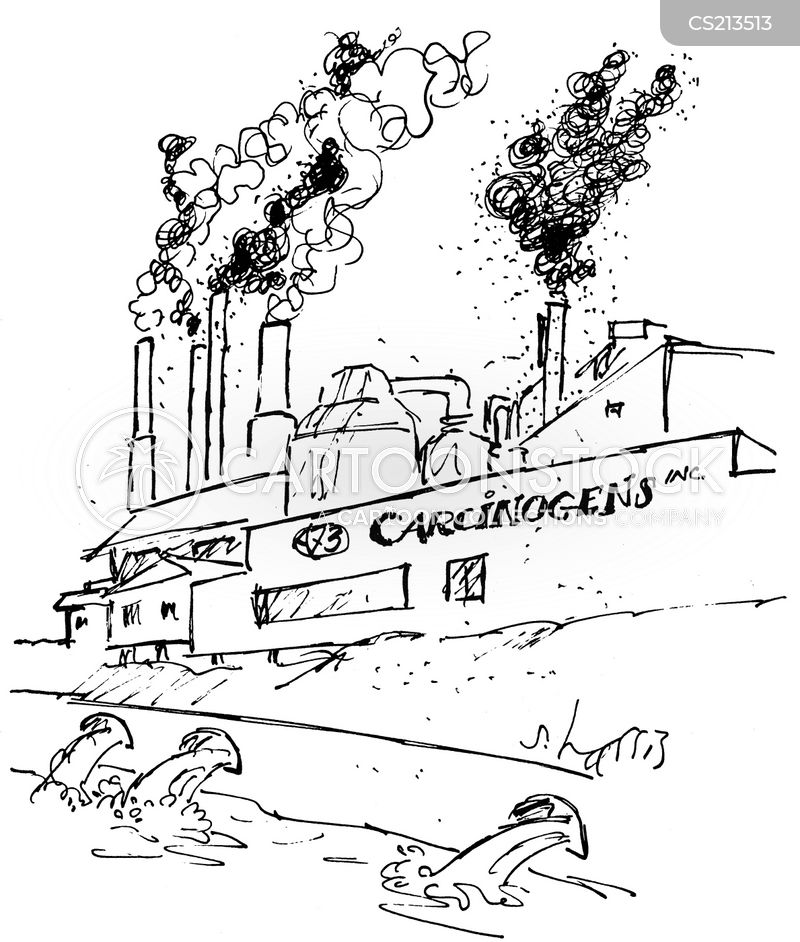 chemical wastes cartoon