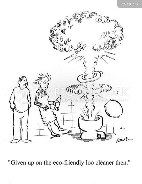 toilet cleaner cartoon