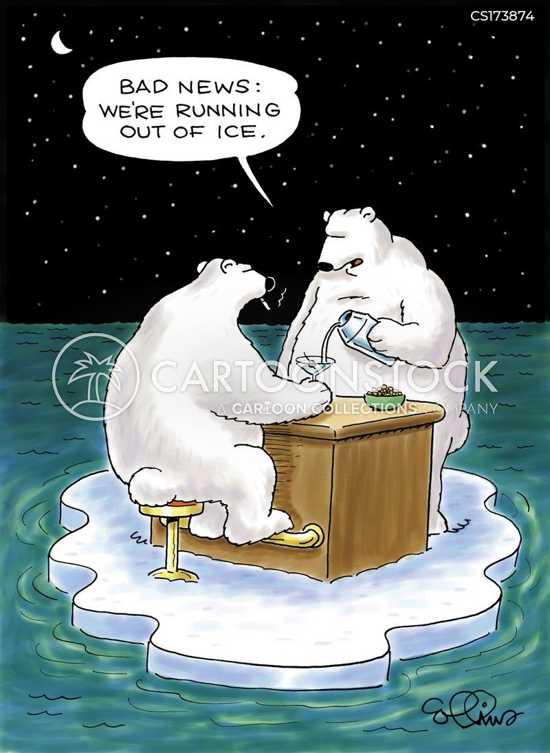 melting ice caps cartoon