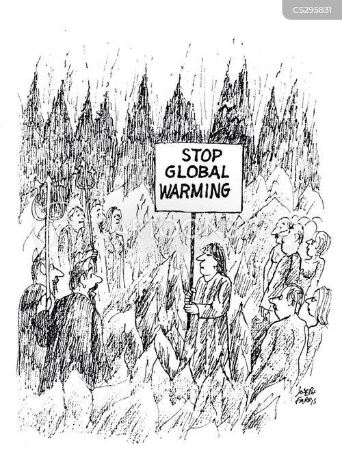 environmental protester cartoon
