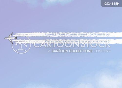 transatlantic flights cartoon