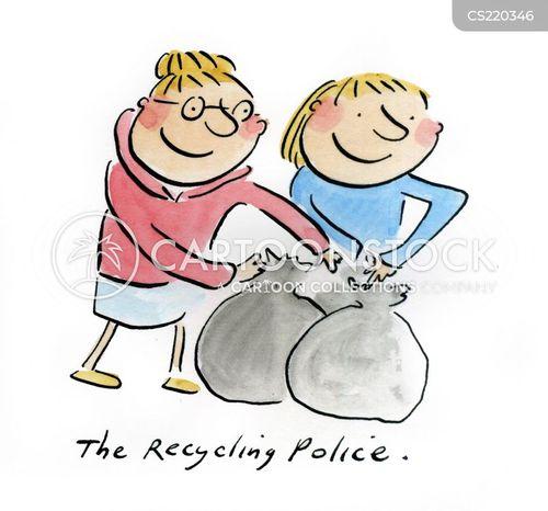 rubbish day cartoon