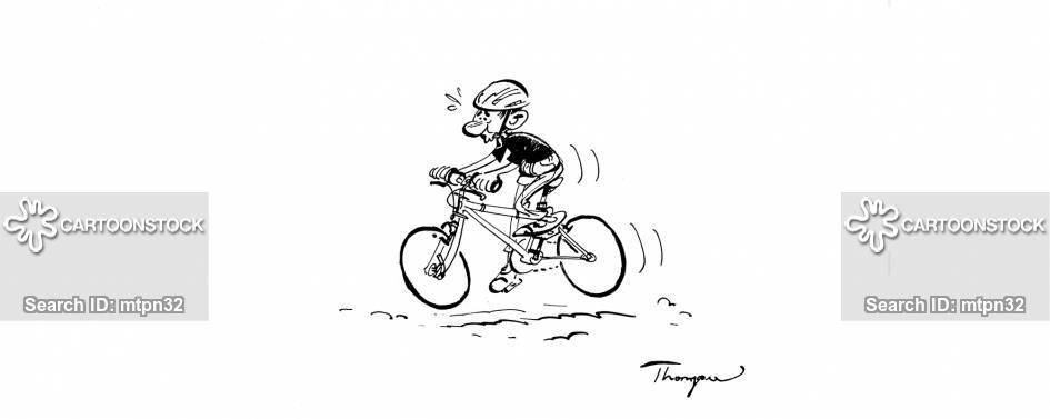 mountain biking cartoon