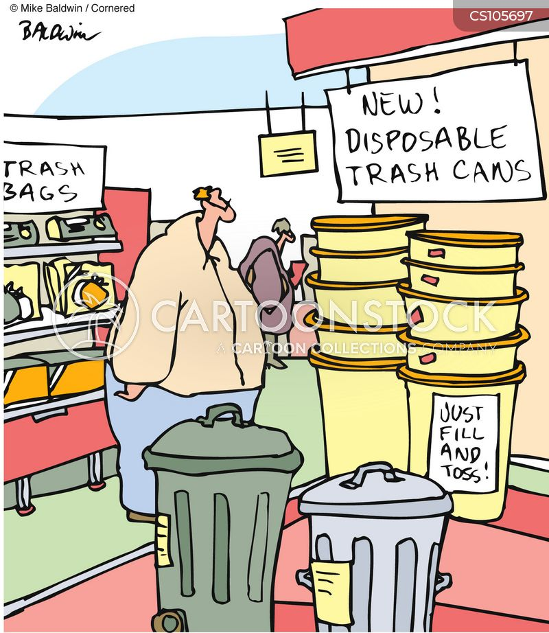 disposable society cartoon