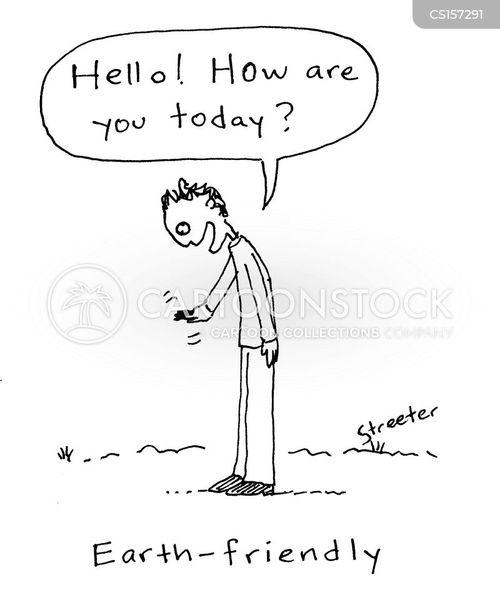 earth friendly cartoon