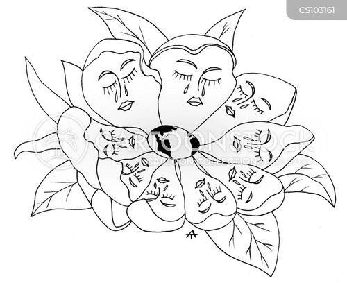 flower petal cartoon