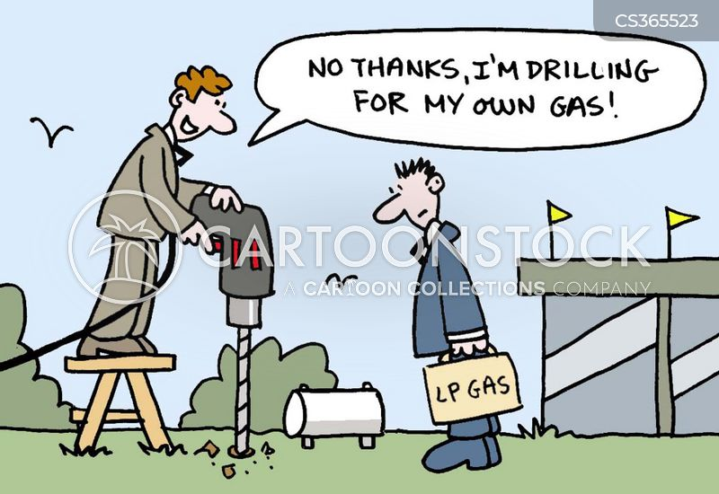 drilling for oil cartoon