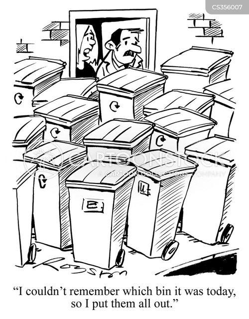 bin collections cartoon