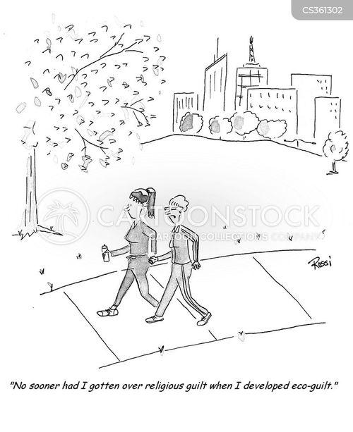 environmentally aware cartoon