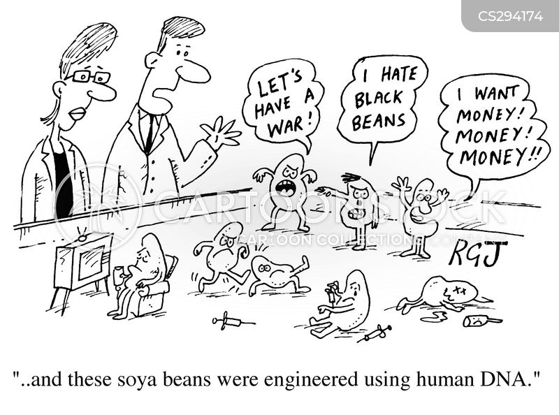 genetically engineered food cartoon