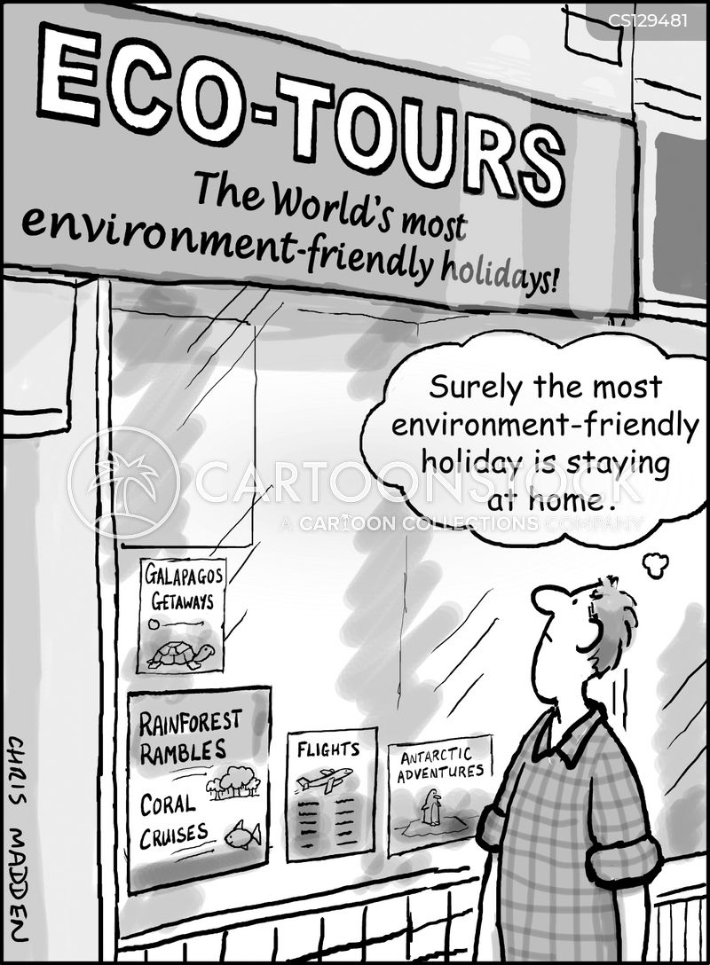 eco-tourism cartoon