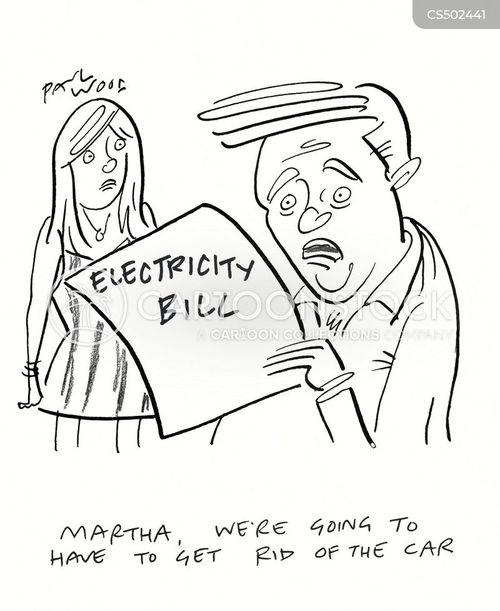 utilities bill cartoon