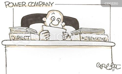 electricity company cartoon